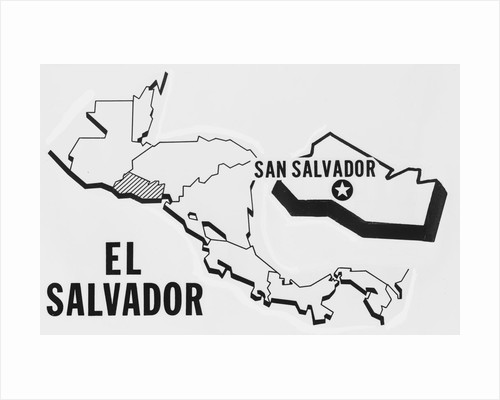 Location Map of El Salvador by Corbis