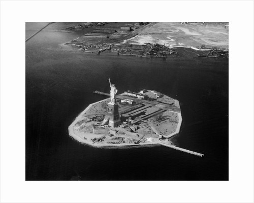 Aerial View of Liberty Island by Corbis