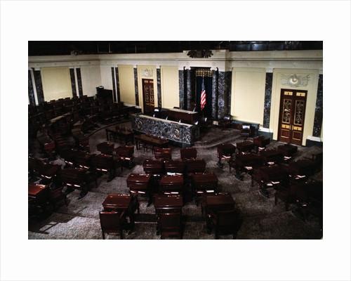 Empty Senate Chamber by Corbis