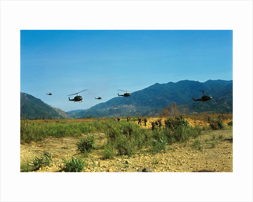 View of Helicopters Landing by Corbis