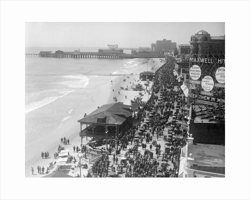 Aerial View of Crowds on a Boardwalk by Corbis