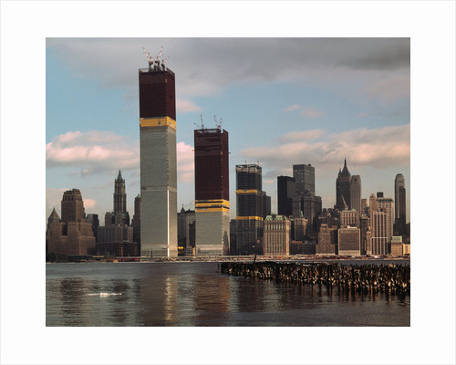 Manhattan Skyline Including Twin Towers by Corbis