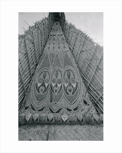Detail of Traditional Ancestral Worship House in Papua New Guinea by Corbis