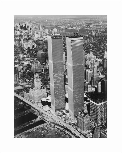 Lower Manhattan Showing the Twin Towers by Corbis
