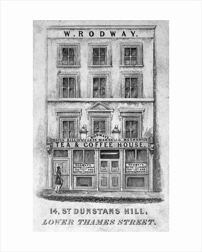 19th Century London Coffee House by Corbis