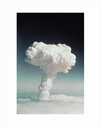 Mushroom Cloud Rising Over Ocean by Corbis