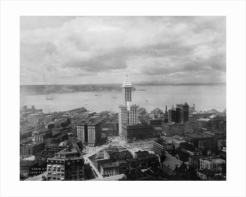Overview of Harbor and Architecture of Seattle by Corbis