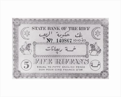 Riff Paper Money by Corbis