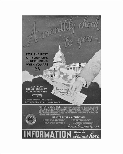 Display of Early Social Security Information Poster by Corbis