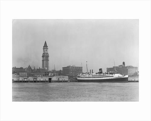 Ocean Liner in Boston Harbor by Corbis