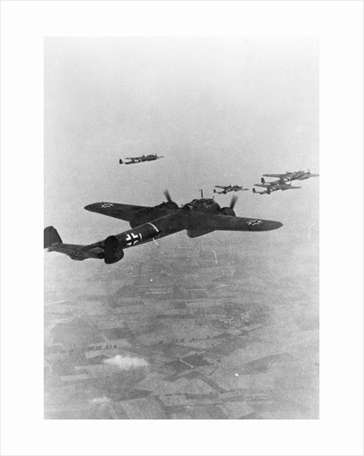 German War Planes Flying Together by Corbis
