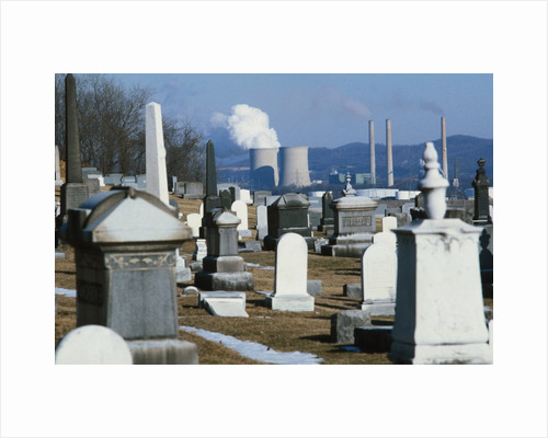 Nuclear Plant and Cemetery by Corbis