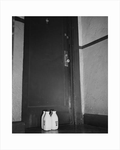 Milk Bottles at Door of Espionage Suspect by Corbis