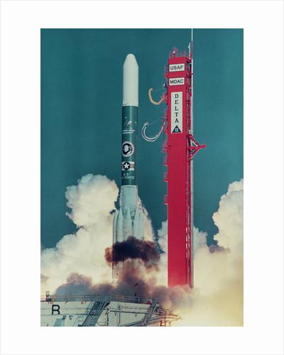 American Rocket Blasting into Space by Corbis