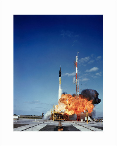 Vanguard Rocket Exploding by Corbis
