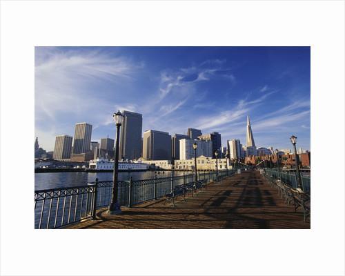 Pier 7 and San Francisco Skyline by Corbis