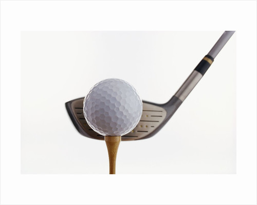 Golf Ball, Tee, and Club by Corbis