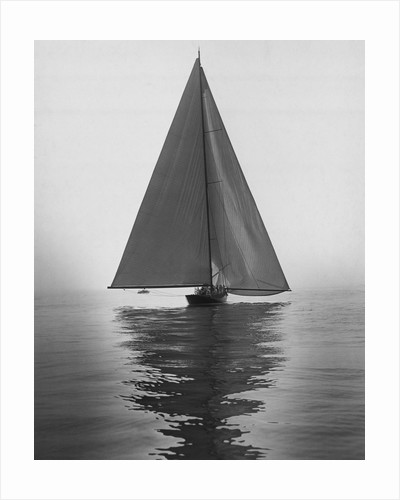 Sailboat with Full Sails on Calm Water by Corbis