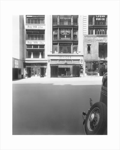 Shops Along a City Street by Corbis