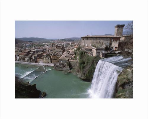 Waterfall on Italian River by Corbis