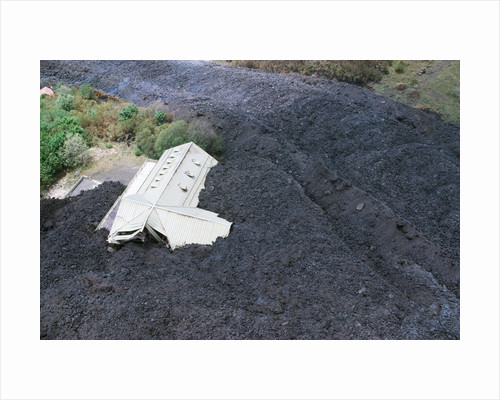 Building Buried by Lava by Corbis