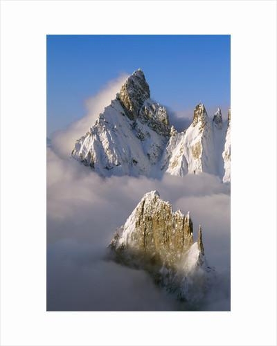 Noire de Peuterey and La Brenva Peaks at Dawn by Corbis