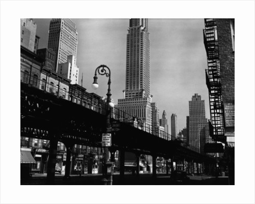Elevated Rail Track and the Empire State Building by Brett Weston