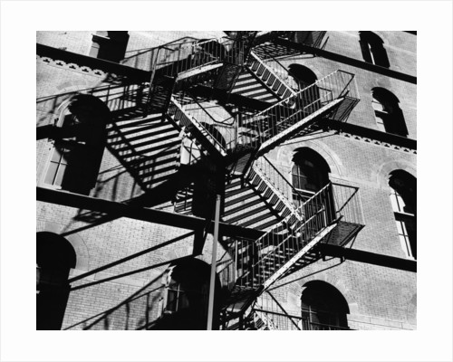 Fire Escapes and Shadows, New York, 1944 by Corbis