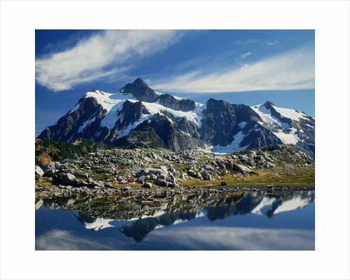 Mountain Reflection on a Lake by Corbis