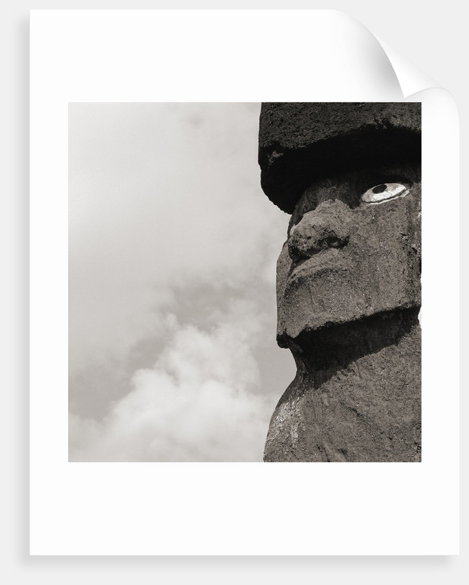 Low angle view of a Moai statue, Easter Island, Chile by Corbis