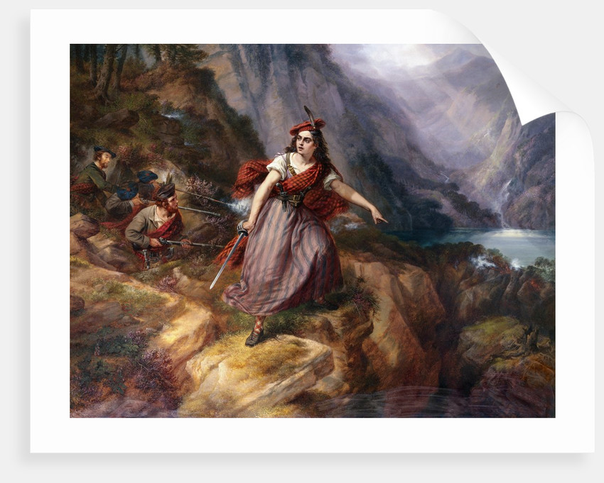 Helen MacGregor in the Conflict at the Pass of Loch Ard by Siegfried Detlev Bendixen
