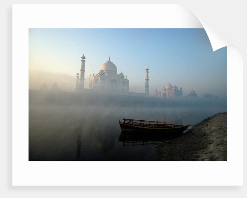 Landscape view of The Taj Mahal, Agra, Uttar Pradesh, India by Corbis