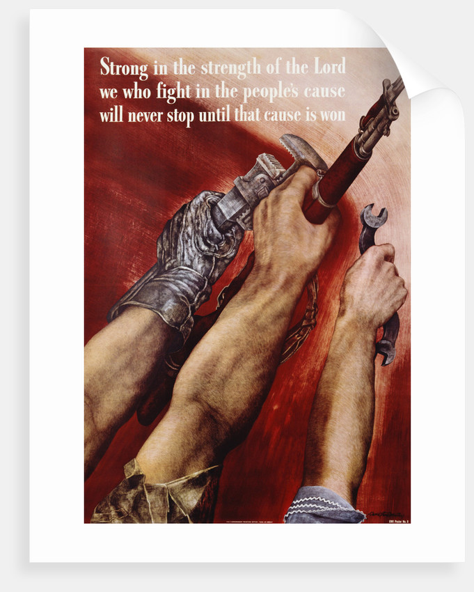 Strong in the Strength of the Lord Poster by David Stone Martin