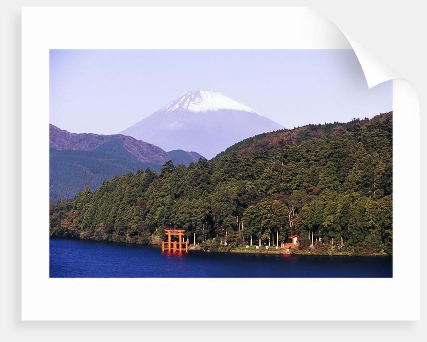 Shinto Shrine on Shore of Lake Ashi by Corbis