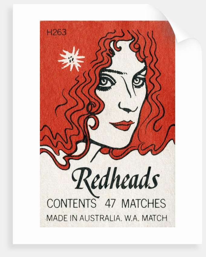 Redheads Matchbox Label By Corbis