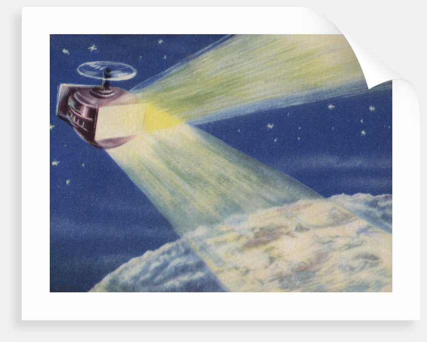 Biekens Pictorial Sticker with a Satellite Sending Laser Beams to the Moon by Corbis