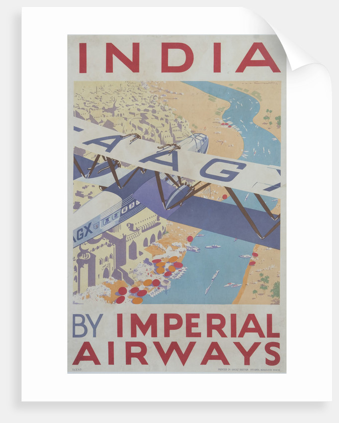 India by Imperial Airways Poster by Corbis