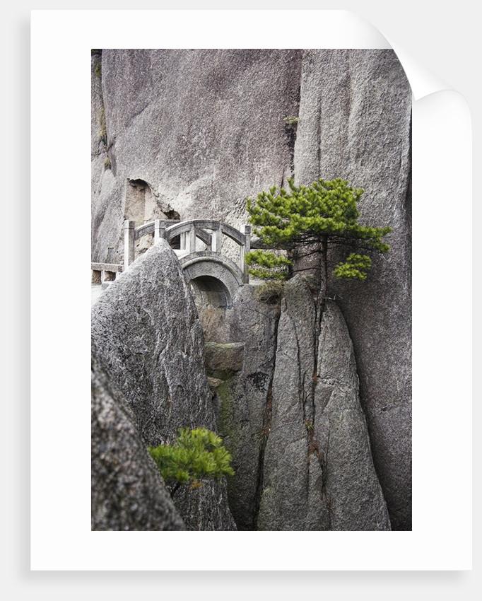Bridge on Huangshan Mountains by Corbis