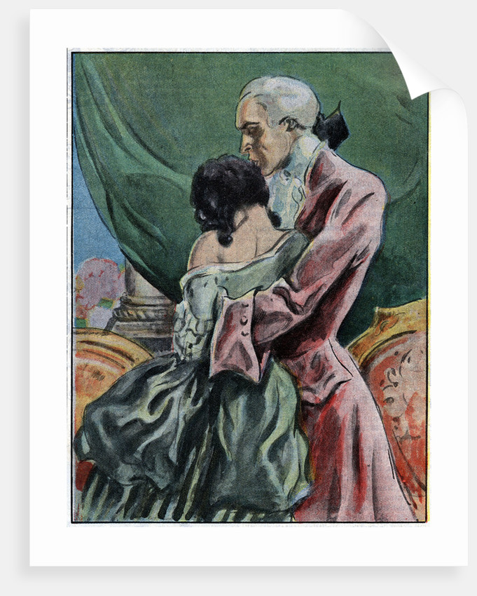 Illustration of Casanova with One of His Conquests by Corbis