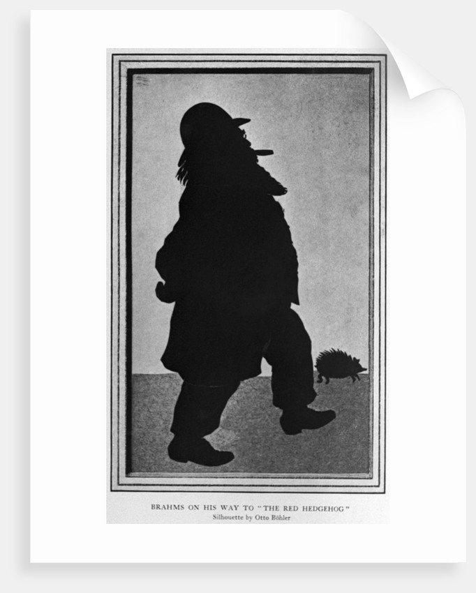 Cartoon of Johannes Brahms by Corbis