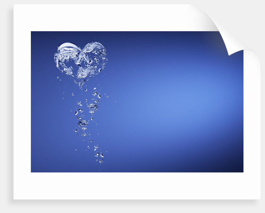 Heart shape formed with bubbles by Corbis