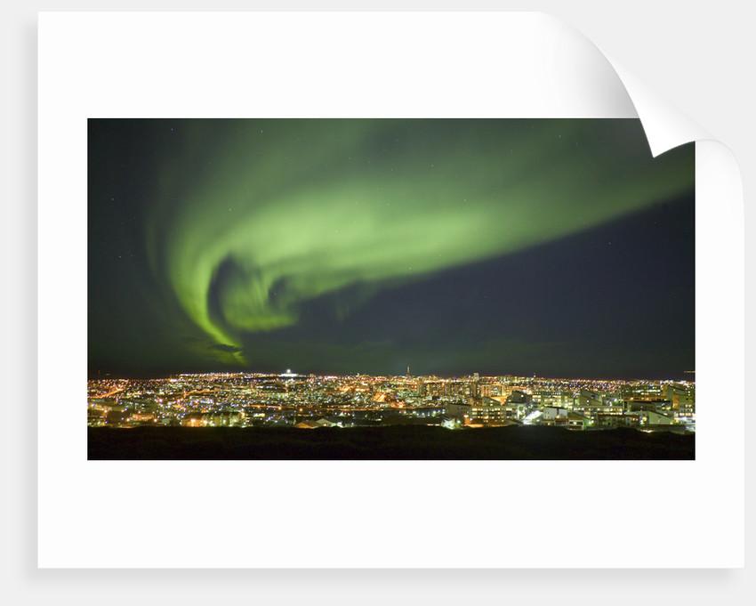 Aurora Borealis over Reykjavik by Corbis