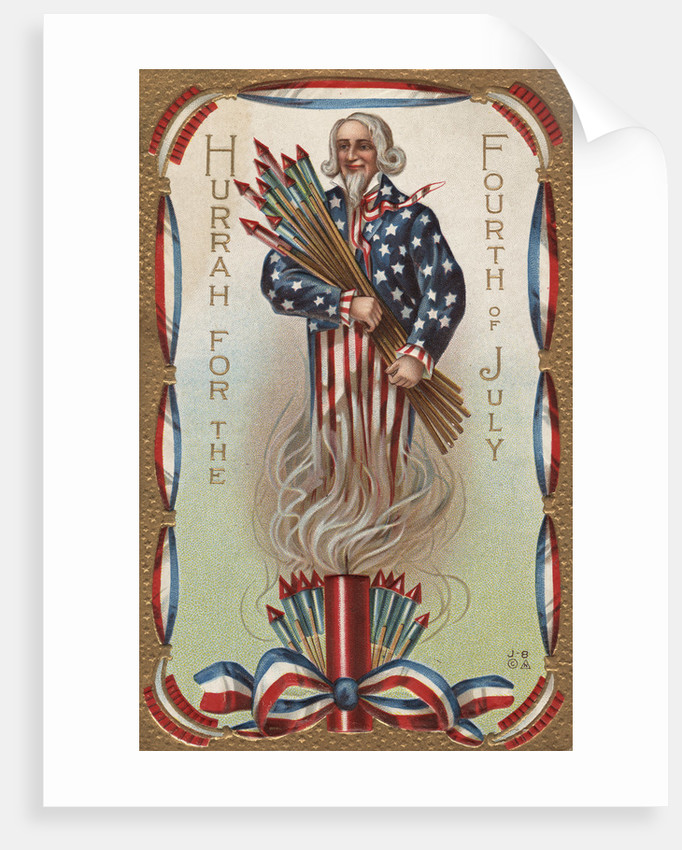 Hurrah for the Fourth of July Postcard by Corbis