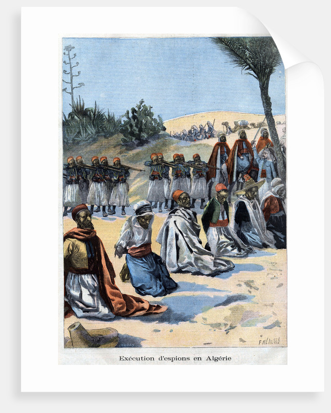 Illustration of the Execution of Spies in Algeria by Corbis