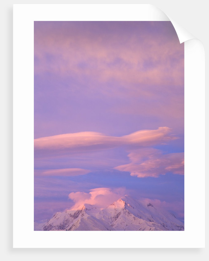 Clouds Over Mount McKinley at Dawn by Corbis