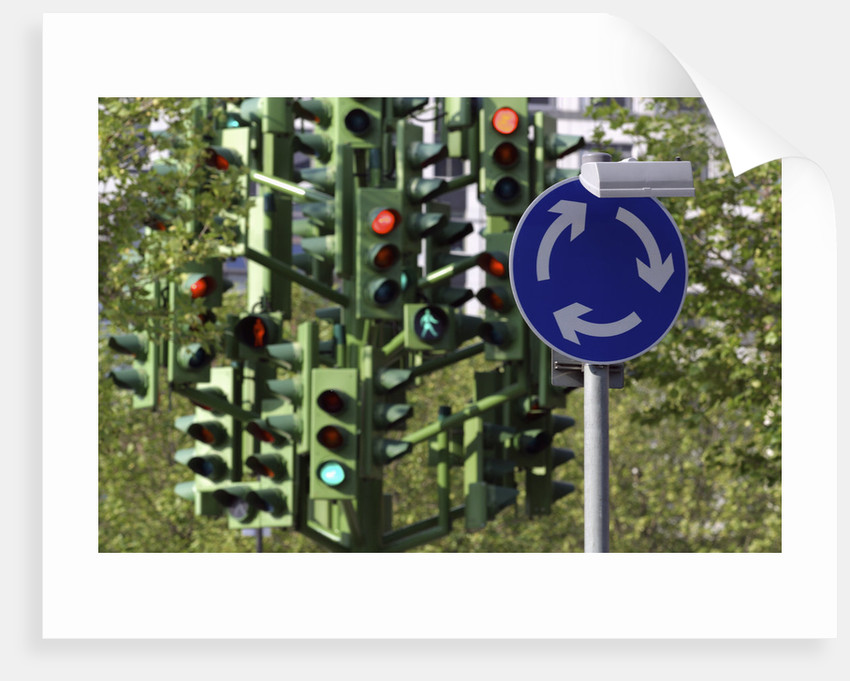 Traffic Light Tree at London Docklands by Corbis