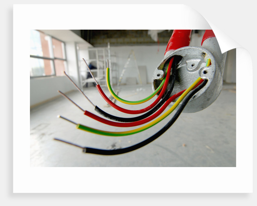 Electrical Wiring in Refurbished Warehouse by Corbis