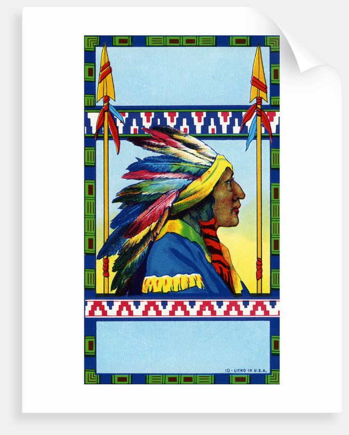 Indian Chief Broom Label by Corbis