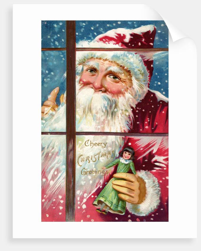 Cheery Christmas Greetings Postcard by Corbis