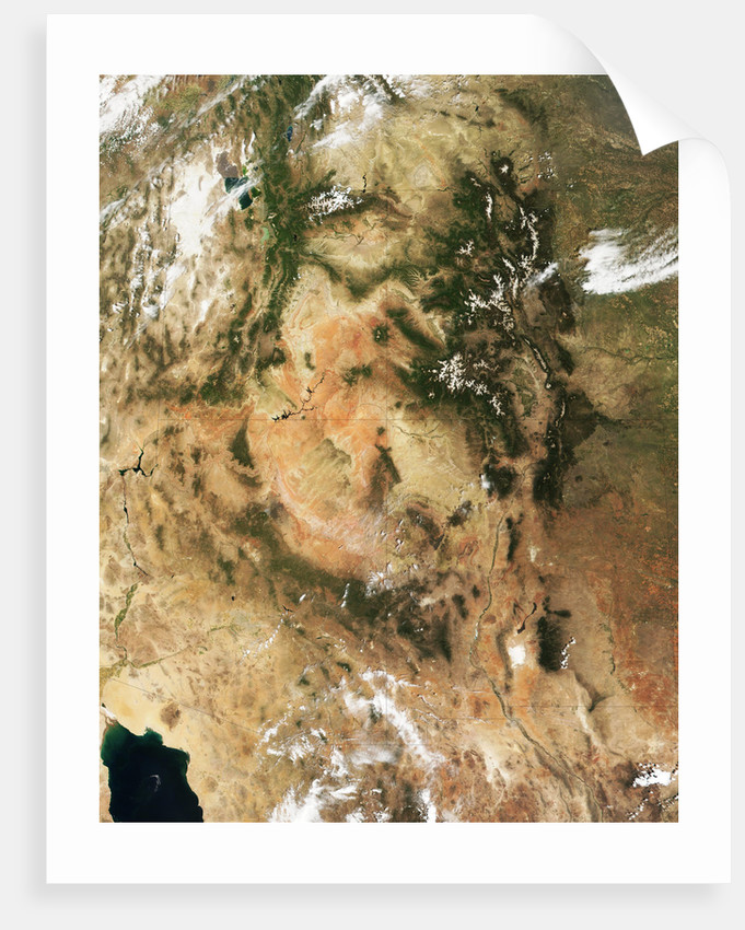 Colorado Plateau and Four Corners Area in the American Southwest by Corbis